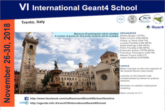 VI International GEANT4 School
